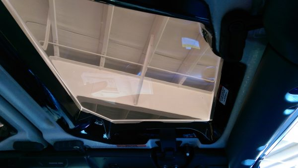 New JeeTops™ Sunroof front panel interior