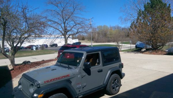Jeep Wrangler Hurricane with JeeTops™ sunroof