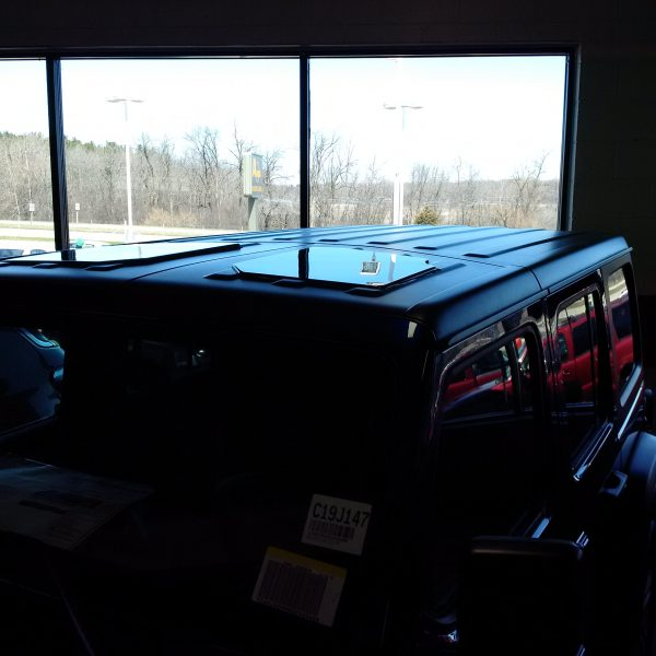 Front panels on Wrangler Unlimited at dealership