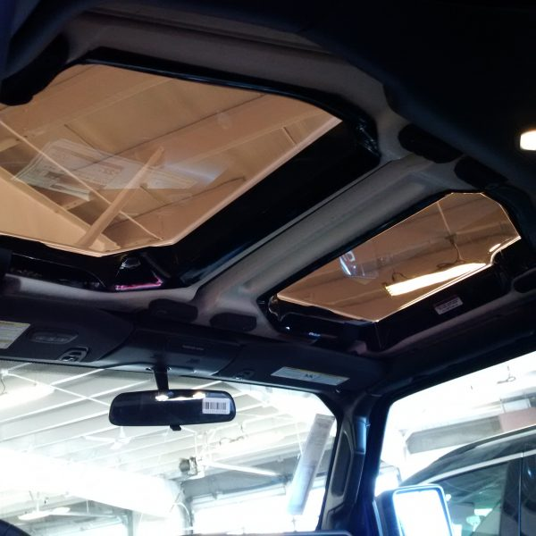 New JeeTops™ Sunroof front panels interior view
